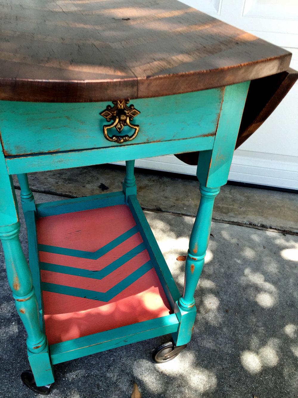 crimson + oak designs | chevron tea cart D1.JPG