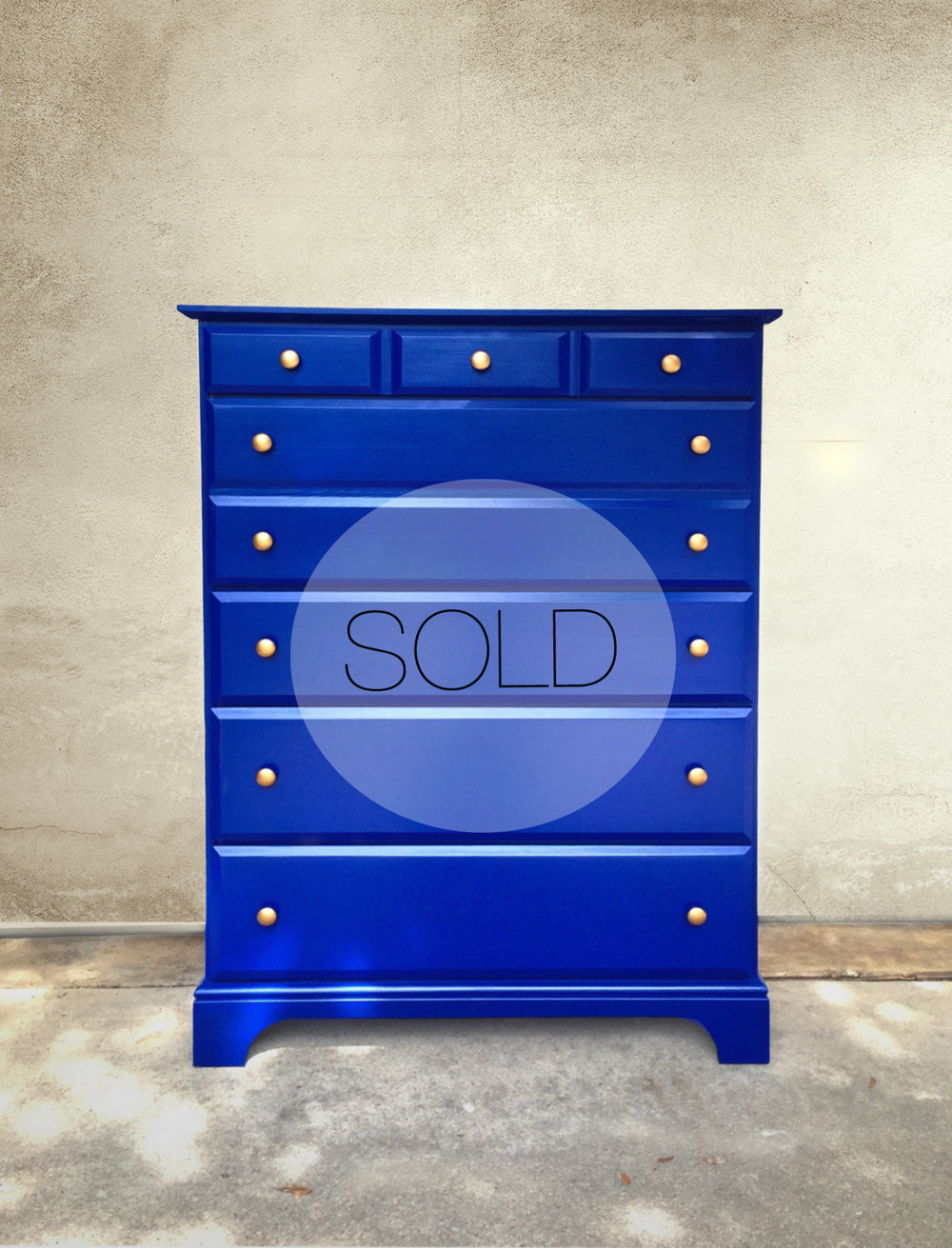 klein blue dresser | SOLD
