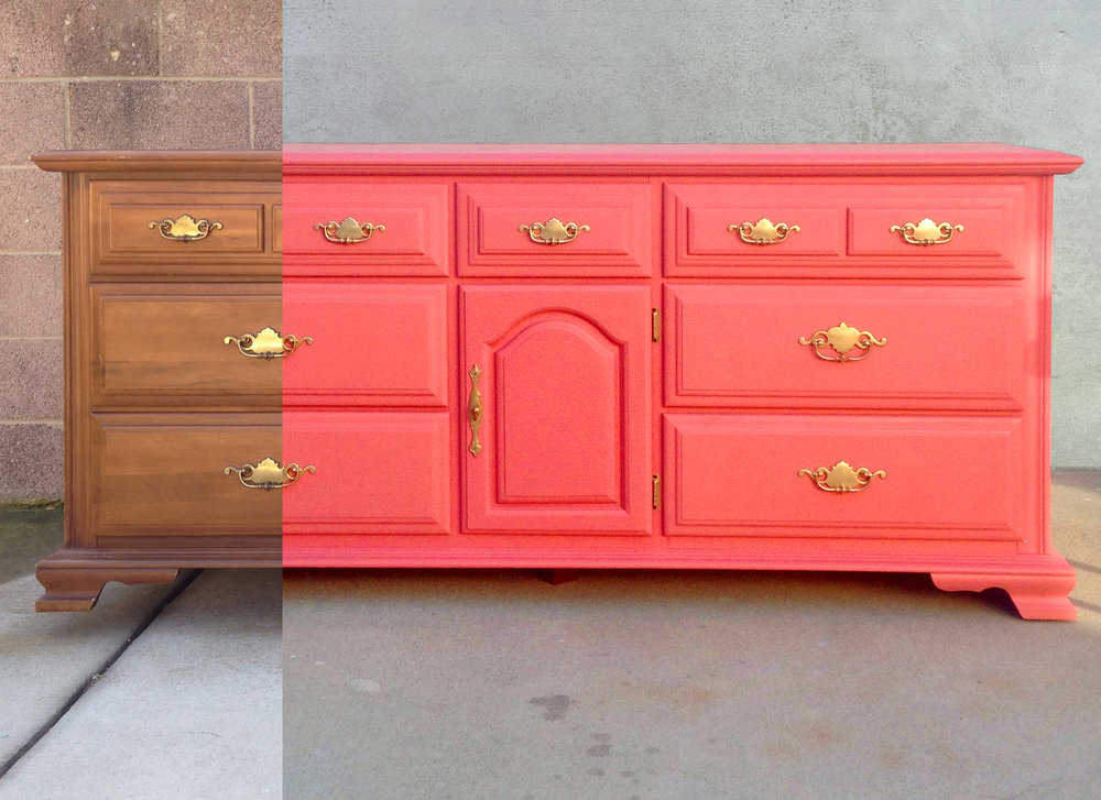 crimson + oak designs | coral baby dresser BEFORE & AFTER.jpg