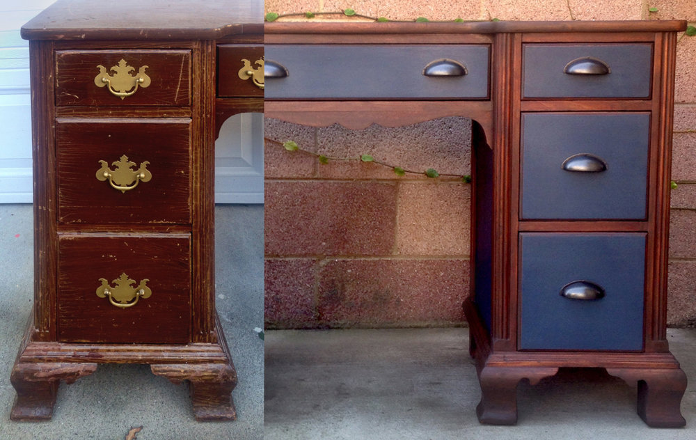 crimson + oak designs | napoleonic desk BEFORE & AFTER.jpg
