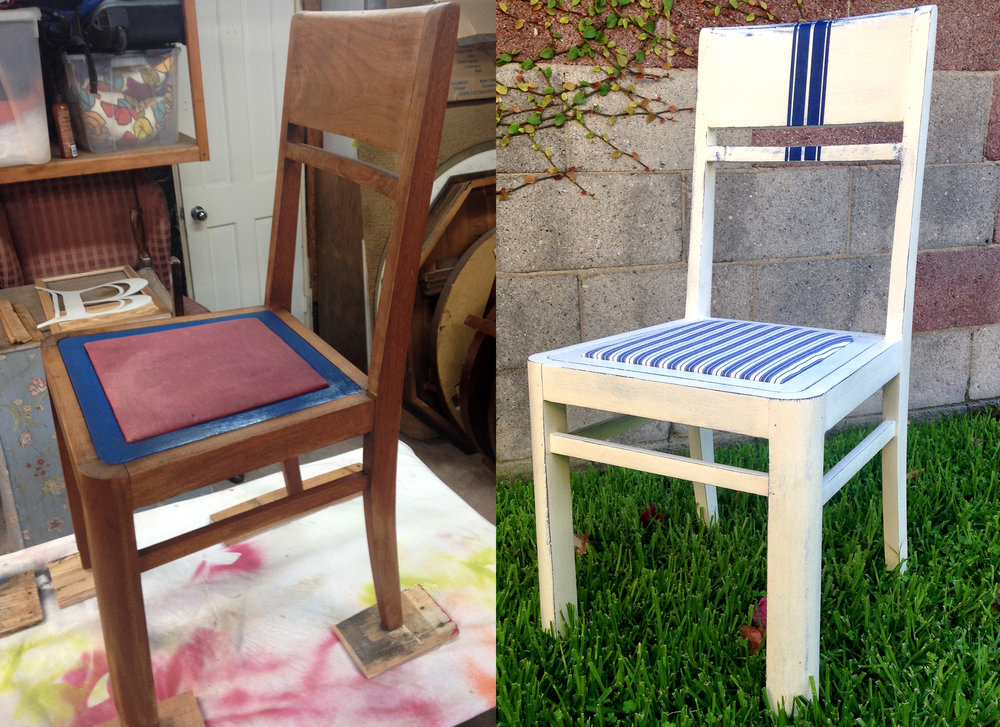 crimson + oak designs | grain sack striped chair BEFORE & AFTER.jpg