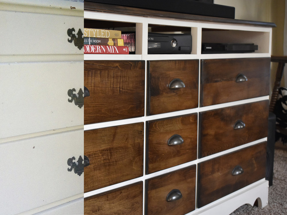 crimson + oak designs | dresser tv console BEFORE & AFTER.jpg