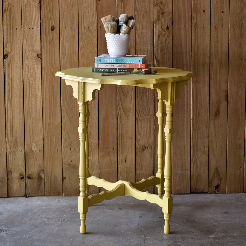 english yellow accent table  |  $125