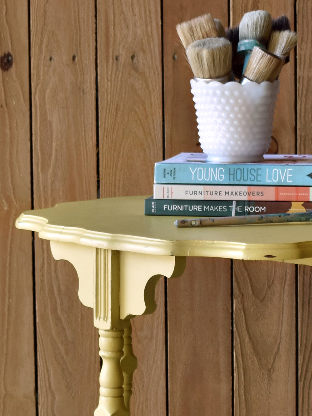 crimson + oak designs | english yellow accent table D2.jpg