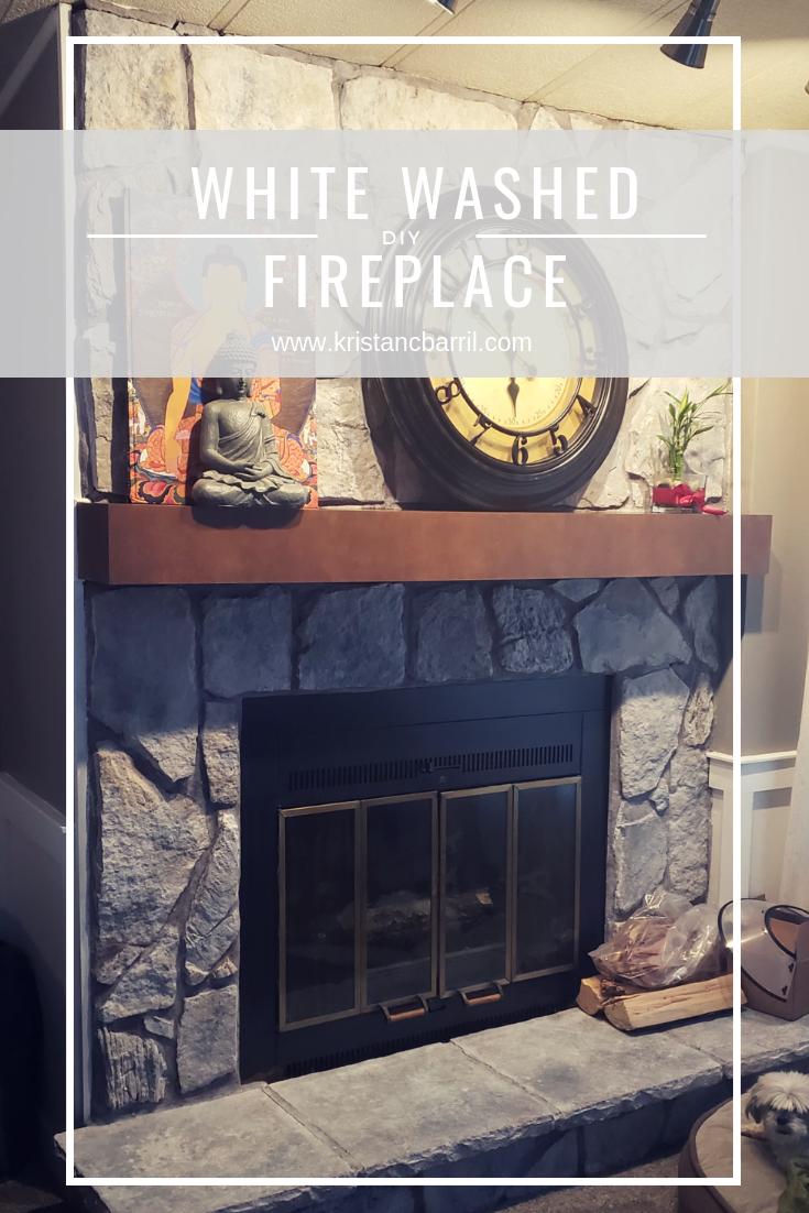DIY White Washed Fireplace https://www.kristancbarril.com/blog-1/resources/2018/10/27/diy-white-washed-fireplace