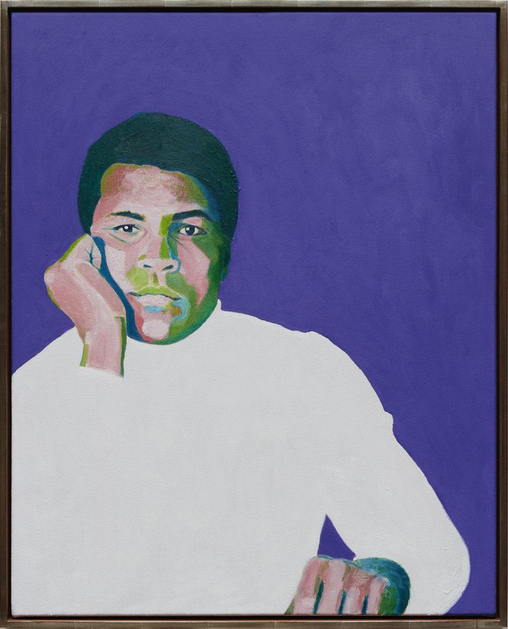 "Muhammad Ali - oil on canvas, 30 x 24"""