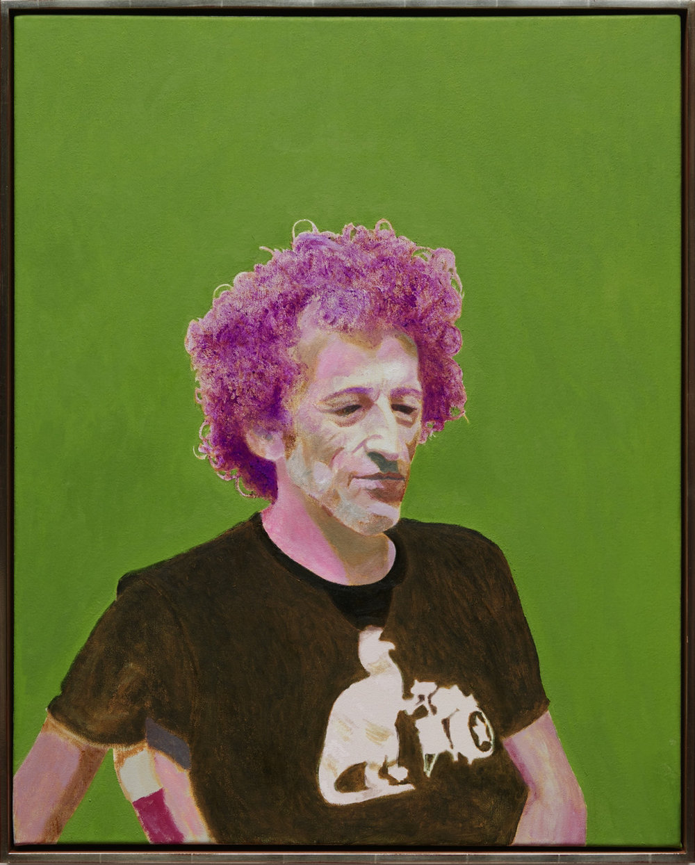 Jojo Mayer - oil on canvas, 30 x 24