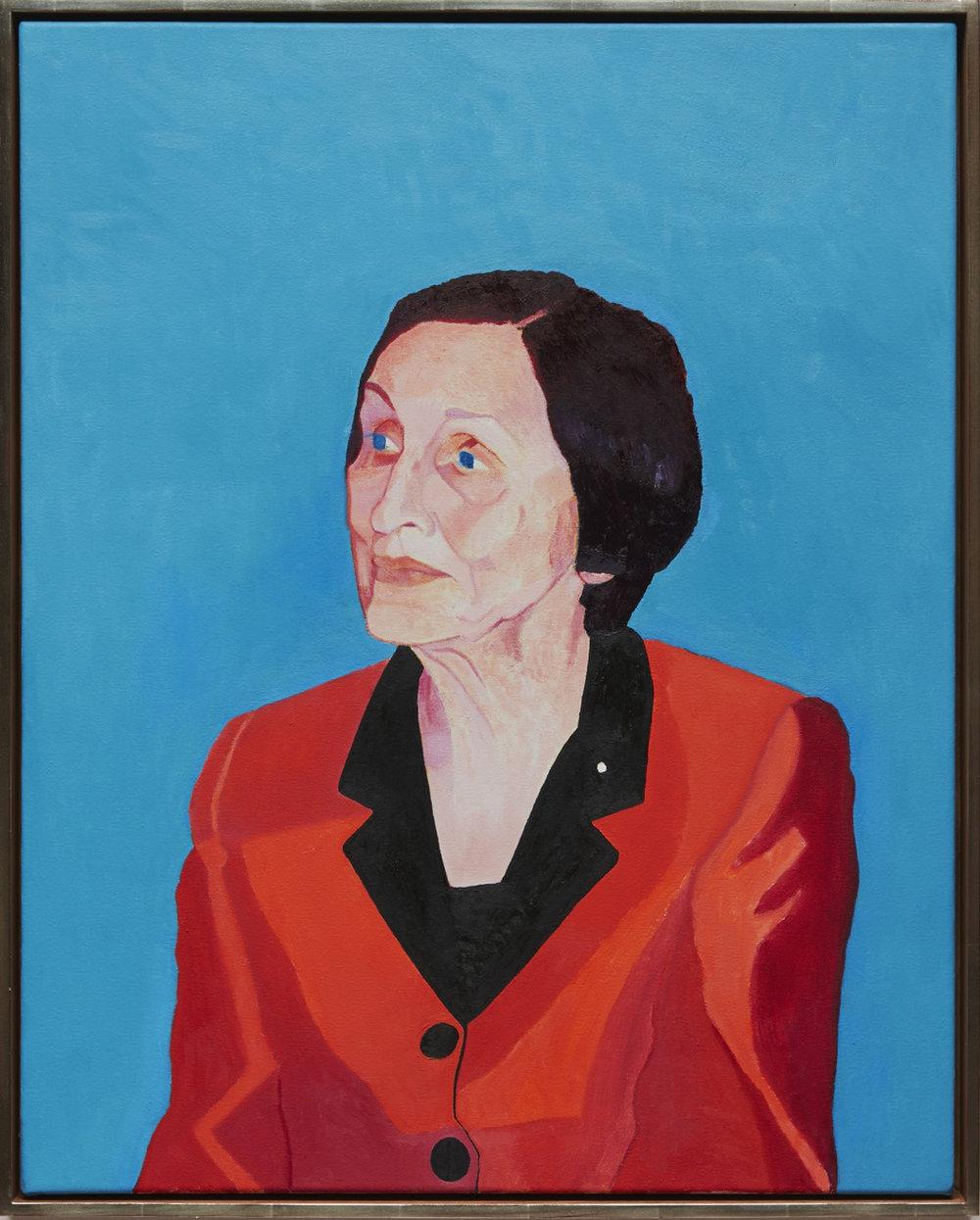 Françoise Gilot - oil on canvas, 30 x 24