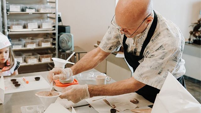 meet foster, life of the party and our head chocolatier! he is the owner of ferris and fosters in orlando and just add chocolate in lehi! he also plays the banjo, stop by and meet the chocolate master for yourself!!