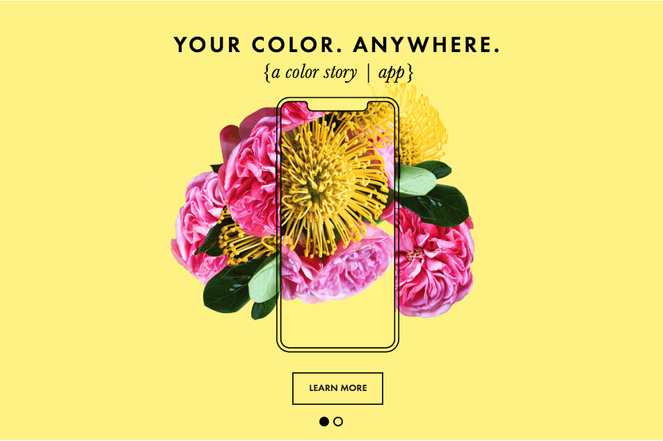 a color story iphone app recommendation