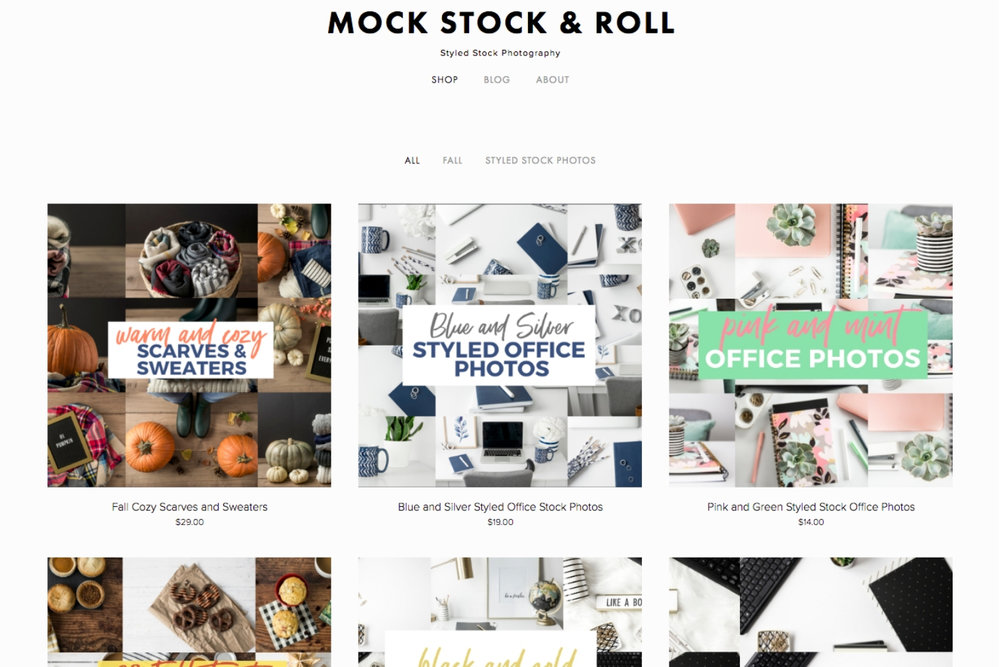 how to use stock photos in your business mock stock and roll shop page