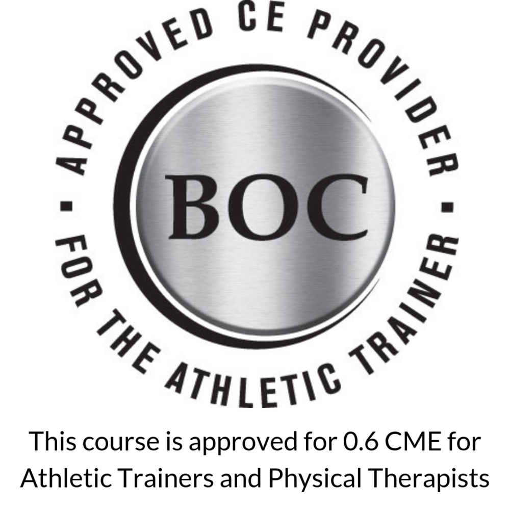 This course is approved for 0.6 CME for Athletic Trainers and Physical Therapists.png