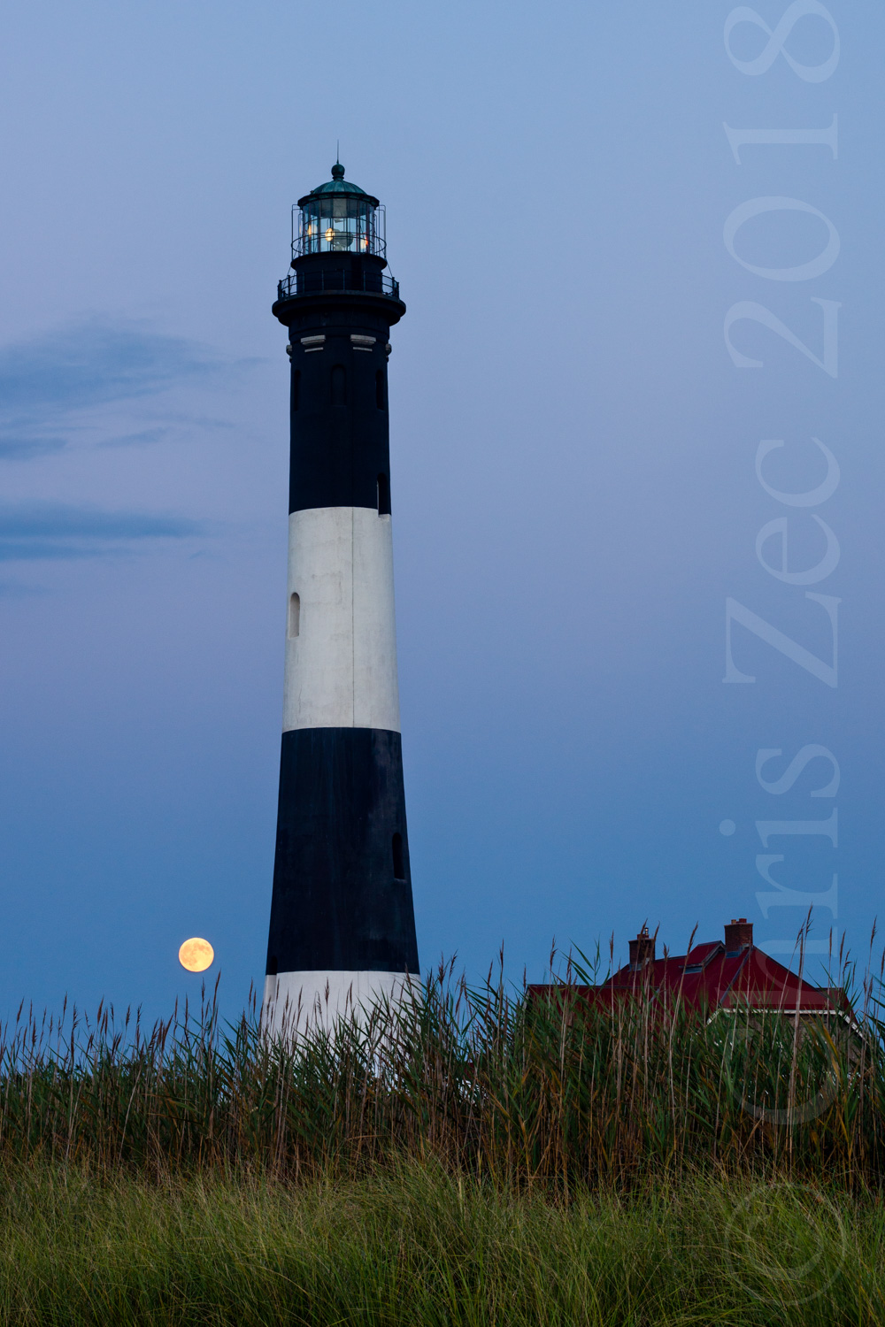 "Lighthouse with Super Moon"", 2014"