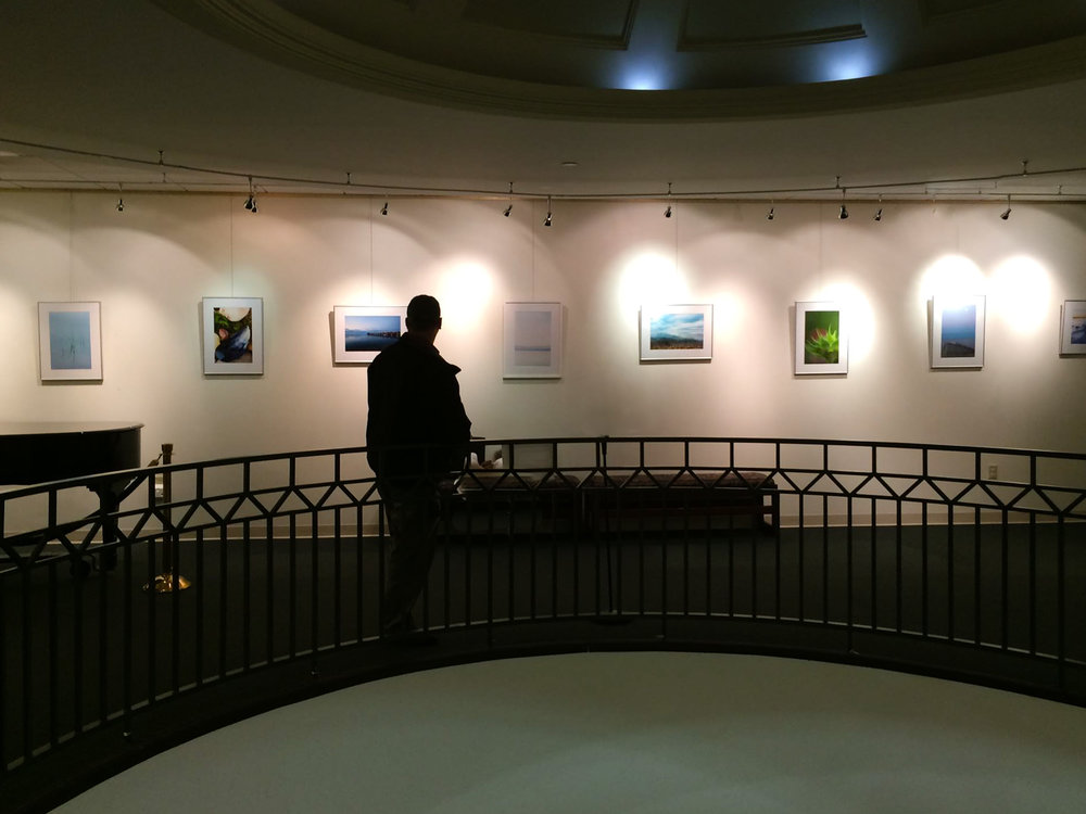 Chris reflecting on a freshly hung solo exhibit.