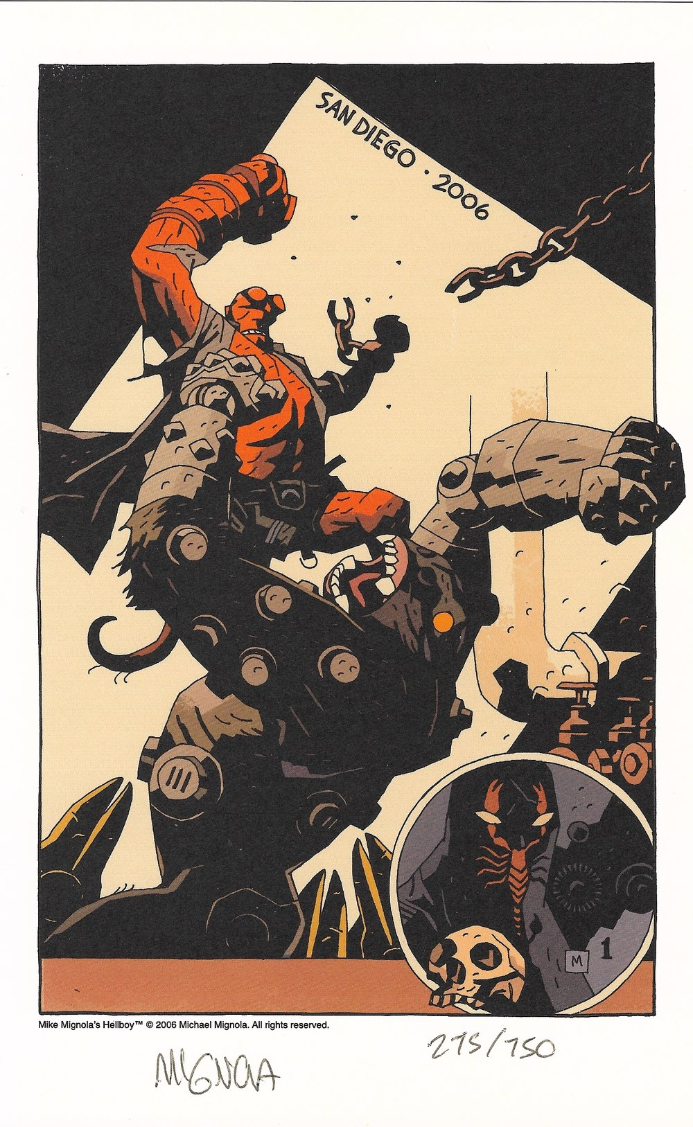 Enter: Scorpion Rabinowitz  Credit: Mike Mignola