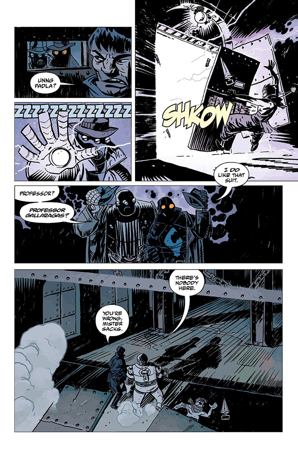LOBSTER JOHNSON: THE IRON PROMETHEUS #2   Credit:  Writer:  Mike Mignola  Art: Jason Armstrong