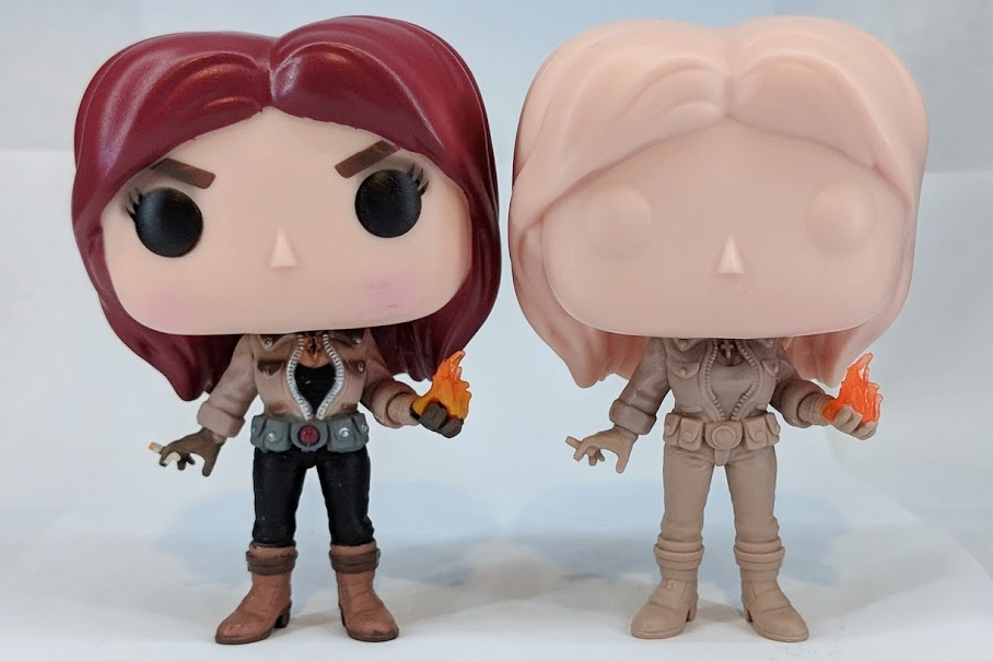 Liz Sherman Production Piece and Color Proto by Funko