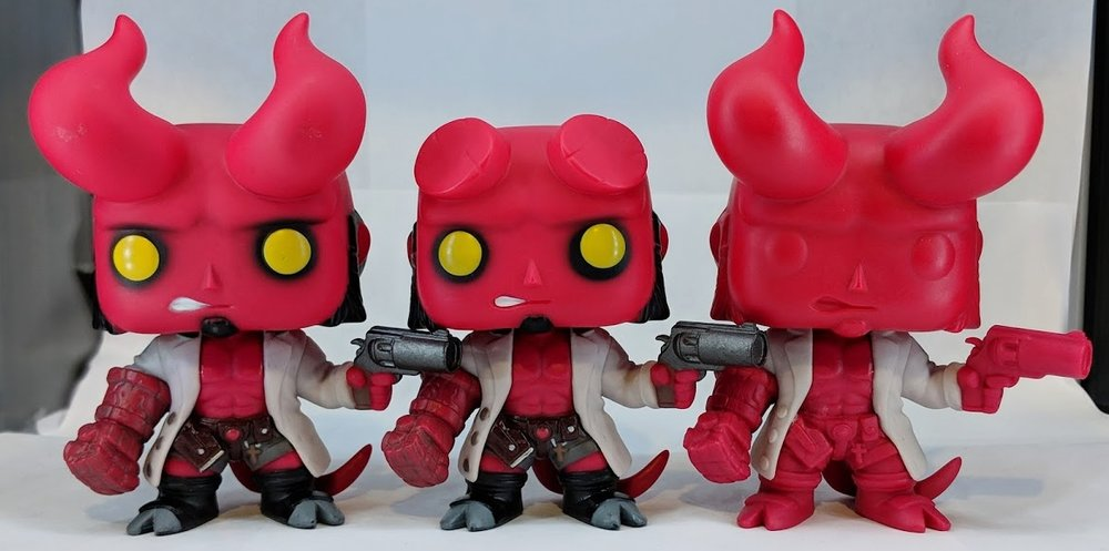 Chase & Standard Hellboy Production Pieces, Color Proto of the Chase by Funko