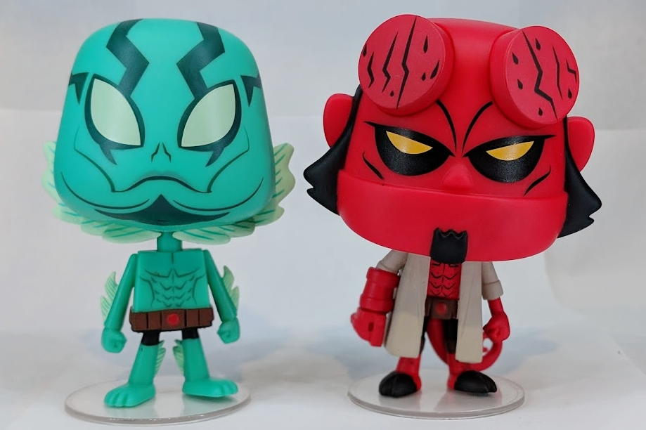 Abe Sapien and Hellboy Vynl by Funko