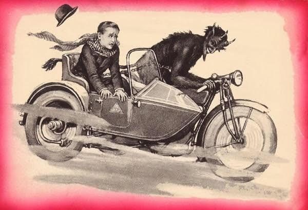 Krampus is a licensed motorist