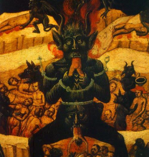 Medieval Satan Painting - unsure of attribution