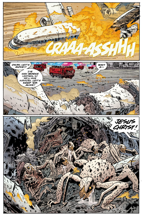 A taste of things to come…   Writer:   Mike Mignola, John Arcudi    Artists:   Guy Davis    Colorist:   Dave Stewart