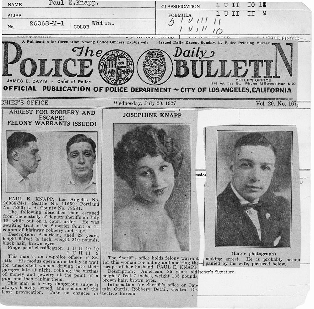 Police Bulletin July 20, 1927 Paul Knapp-1.jpg