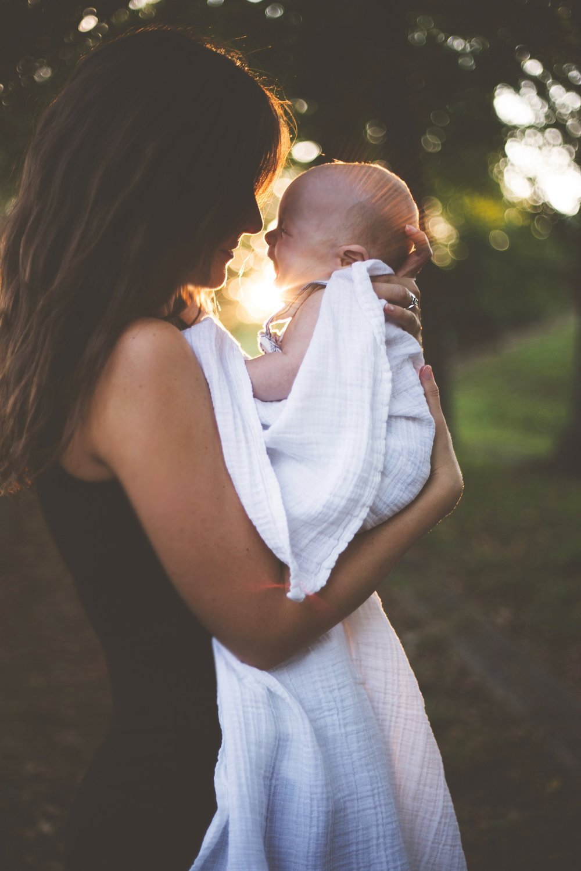 mother baby happy