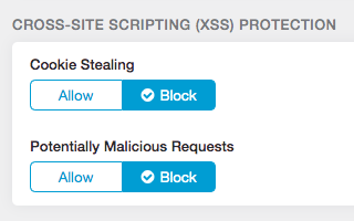 XSS Protection using a cloud-hosed security service