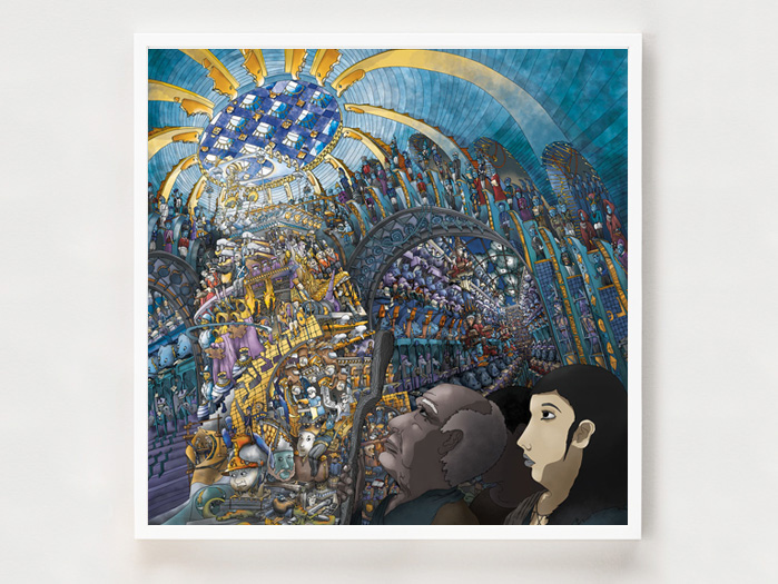 Miriam's Gaze - 90 x 90 cm. The Story of the Haggadah as you've never seen it.