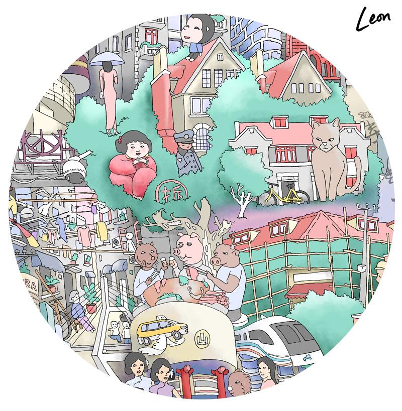 A Detail from 'Shanghai Dreams'