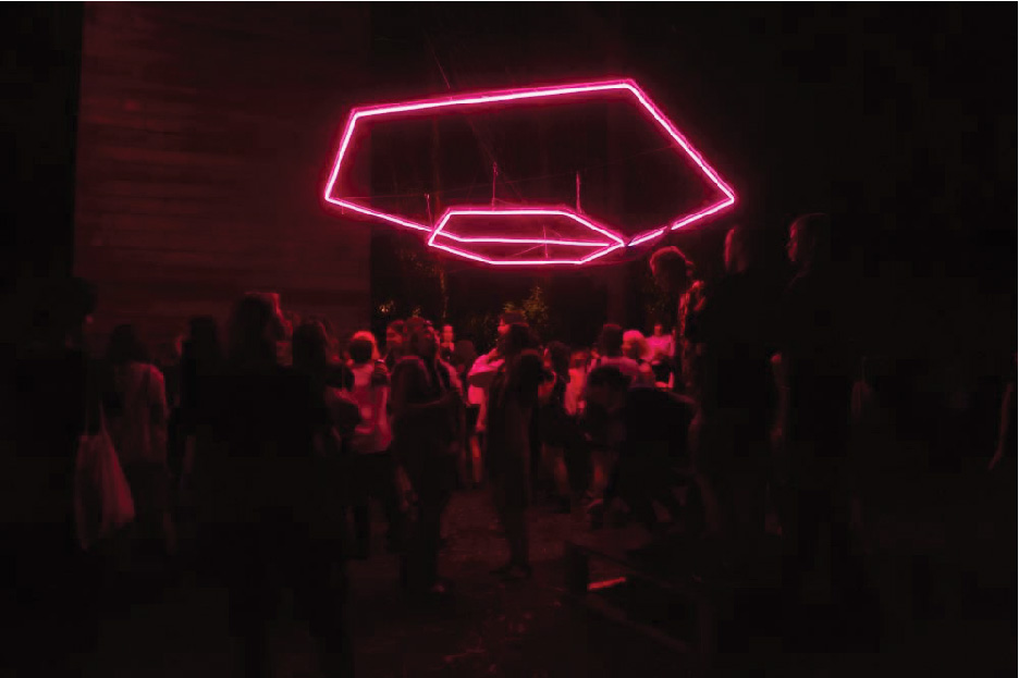 Nong Sound for Ben UFO at Camp Nong 2015. Lighting installation by Trent Crawford