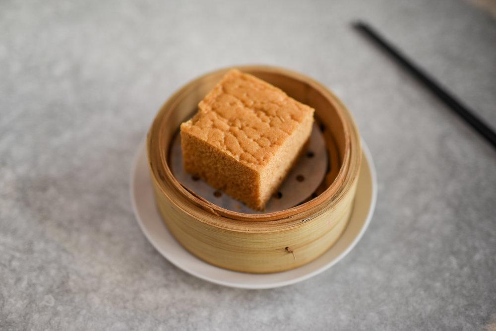 STEAMED EGG CAKE  $5.80 (1 serve) (V)