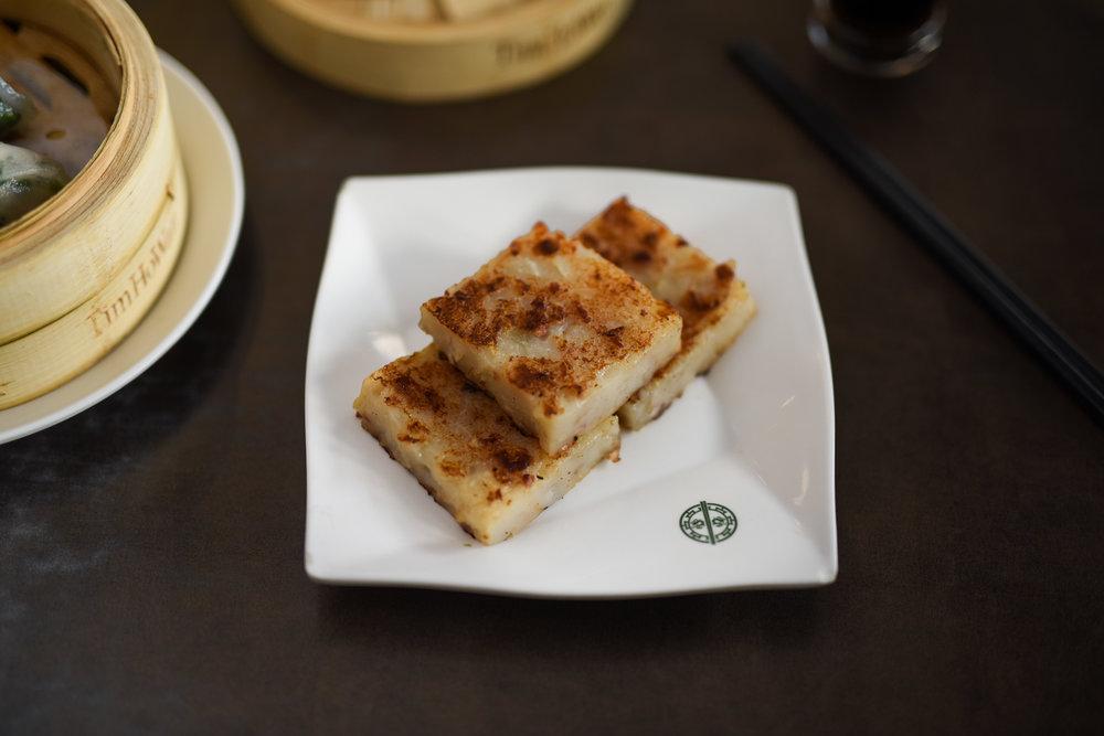PAN-FRIED TURNIP CAKE $6.00 (3pcs) (contains Shellfish)