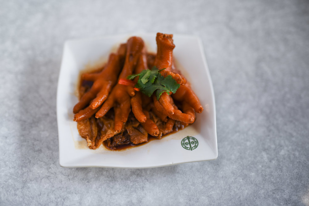 BRAISED CHICKEN FEET WITH ABALONE SAUCE $6.80