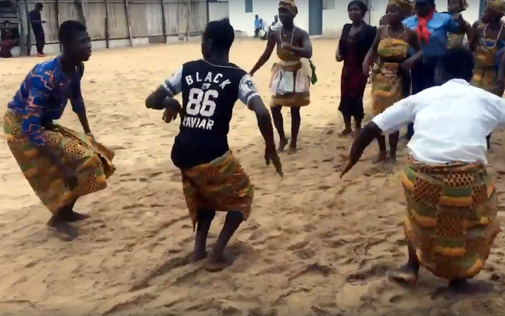 "14.Agbadza / Ghana / Togo / Benin - Agbadza is a music and dance that evolved from the times of war into a very popular recreational dance. It is originally done by the Ewe people of the Volta Region of Ghana, particularly during the Hogbetsotso Festival, a celebration by the Anlo Ewe people. It is also dances in Togo and Benin. The dance is usually played at funerals, weddings, and parties. Essentially, it is played at any occasion that called for Ewe identity emblem, since this music is known by other ethnic groups to be uniquely Ewe. Everyone is welcome to join in the dance. It is sometimes known as the ""chicken dance"" due to the bird-like motions required for the dance."
