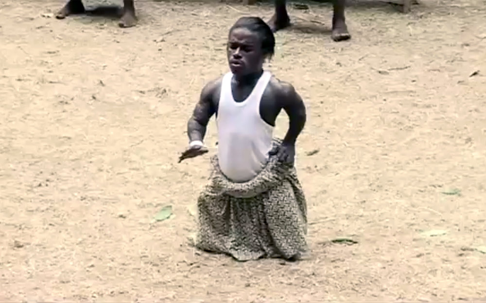 "36.ASSIKO / Cameroon - ASSIKO is a popular dance from the south of Cameroon. Originally based in the Bassa country, this rhythmic dance takes its name from two words: ""Isi"" changed into ""Assi"" which means ""earth"" or ""ground"", and the word ""Koo"" which means ""foot"". Assiko is danced dressed in a simple T-shirt and a full skirt with an underling waistline to emphasise hip movements. Choreographies of Assiko use several lop-sided walks, successive small close walks that the dancers make at different heights, standing up or crouching, which makes you feel they float on the stage. There are also demonstrations of sense of balance, contortions and physical strength calling to the exhilaration of dance or trance."