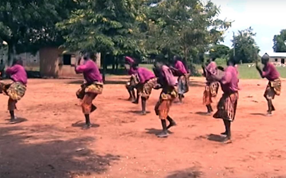 40.ATSIAGBEKOR / Ghana / Togo / Benin - ATSIAGBEKOR is among the oldest traditional dances of the Ewe-speaking people of Southern Ghana, Togo, and Benin. Originally a war dance performed after battle when the warriors returned to the village, it is now performed on many social occasions. One of the outstanding features of the dance is the interaction between the master drummer and the dancers. Atsiagbekor songs constitute an important heritage of Ewe oral tradition. Most of them contain historical references to their chiefs, war leaders, migration stories, themes relating to the invincibility of the Ewes against their enemies, themes of loyalty, bravery, and death , etc. Atsiagbekor performance present scenes, which may have their actual origins in battles that were fought as the Ewes trekked through hostile countries in search of peace. It speaks about the qualities of womanhood and manhood and about human dignity.