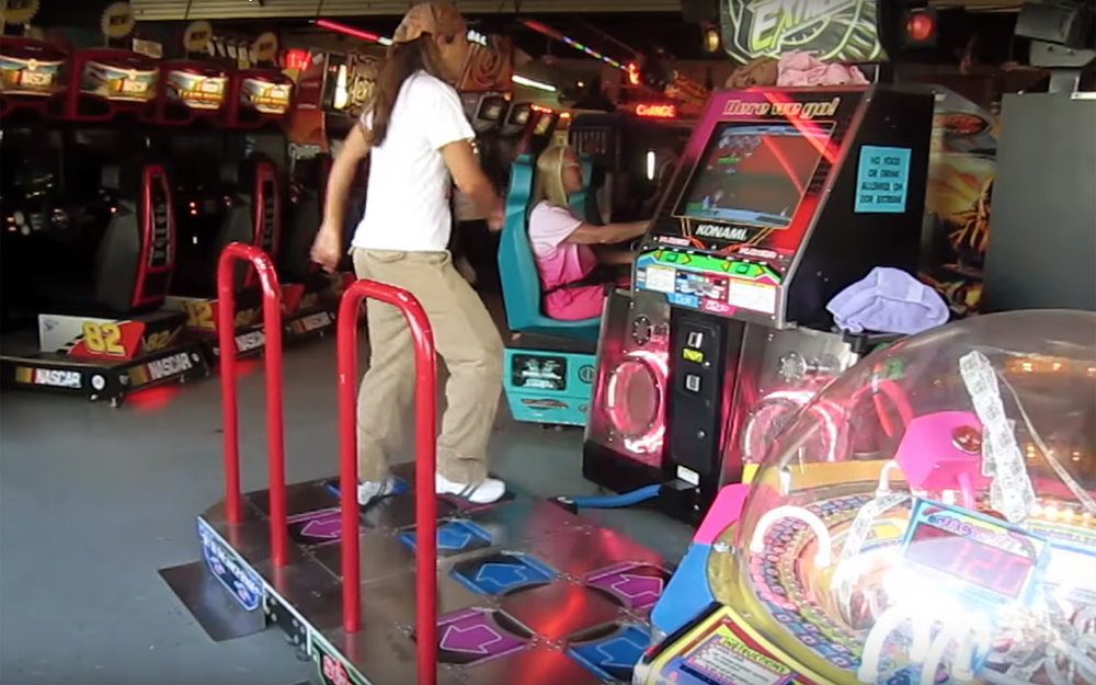 210.DANCE DANCE REVOLUTION / Global - DANCE DANCE REVOLUTION also known as Dancing Stage in earlier games in Europe, Central Asia, Middle East, Africa, South Asia and Oceania, and also some other games in Japan, is a music video game series produced by Konami. Introduced in Japan in 1998 and released in North America and Europe in 1999, it is the pioneering series of the rhythm and dance genre in video games. Players stand on a