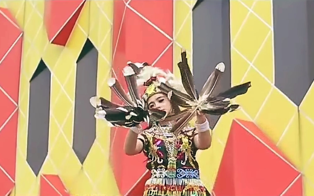 """214.Dayak Dance / Indonesia - Dayak Dance are various forms of dance performed by the Dayak people of Kalimantan (Indonesian Borneo). """"Tari Enggang"""" is inspired by the hornbill bird and dancers wear and hold hornbill feathers. Many other forms of Dayak dance are inspired by birds and feature sweeping and floating hand movements."""