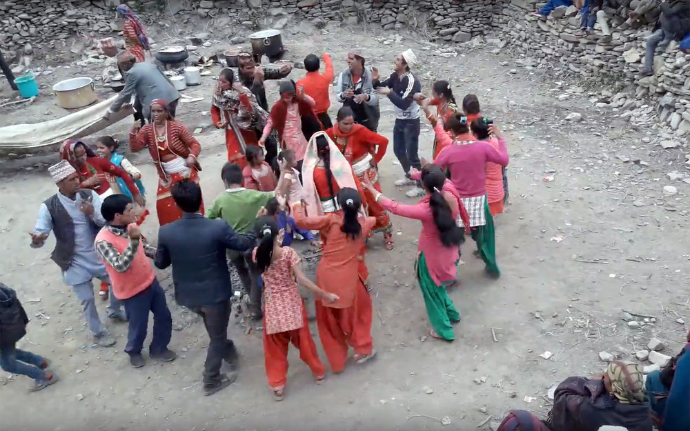227.Deuda Naach / Nepal - Deuda Naach is a dance style originally belonging to the midwestern and far western region of Nepal. The dance is performed by forming the circle shoulder to shoulder and by holding hands of adjacent dancers. Nowadays this dance style has also spread to other regions of the country.