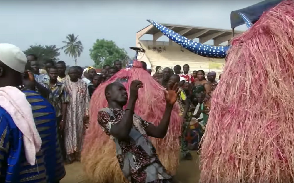 942.ZANGBETO / Benin - ZANGBETO is traditional performance ceremonies by Fon people in Benin, devoted to worshiping the Zangbeto, traditional voodoo guardians of the night in the Yoruba religion of Benin and Togo, known as the