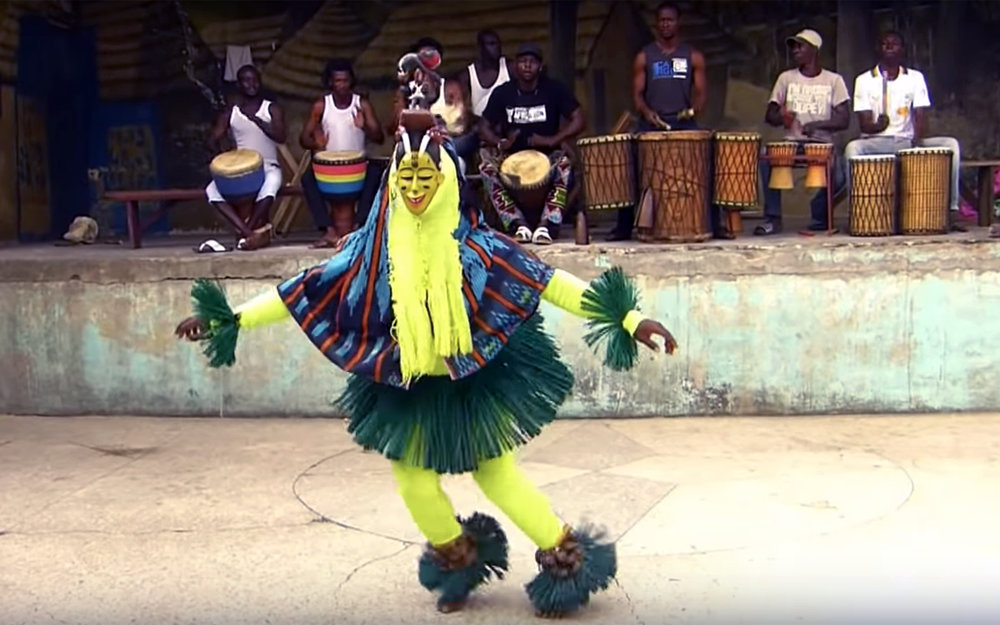 943.Zaouli / Ivory Coast - Zaouli is a traditional dance of the Guro people of central Ivory Coast. The Zaouli mask, used in the dance, was created in the 1950s, reportedly inspired by a girl named