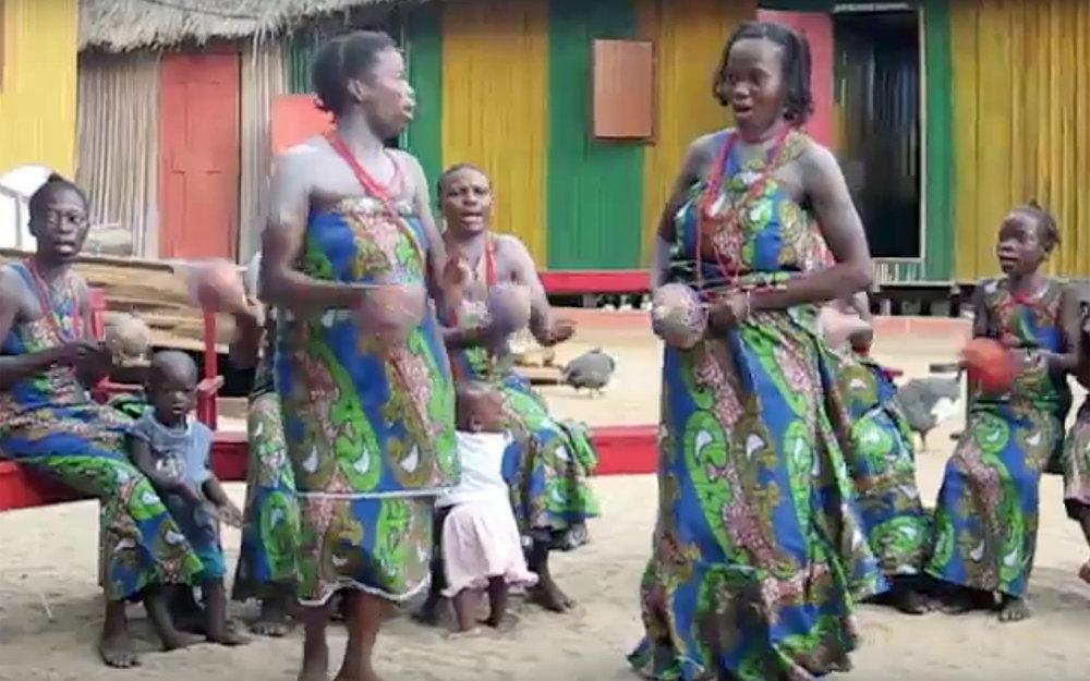 315.GANVIE / Benin - GANVIE is a traditional dance of Ganvie people near to Cotonou in Benin.