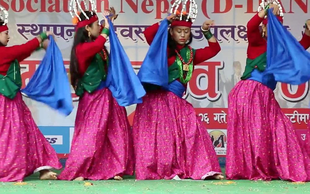 313.Ghatu Nritya / Nepal - Ghatu Nritya is a popular dance among the Gurung community of Nepal. Mainly 10-19 years girl performs the dance with their traditional customs singing mantras.