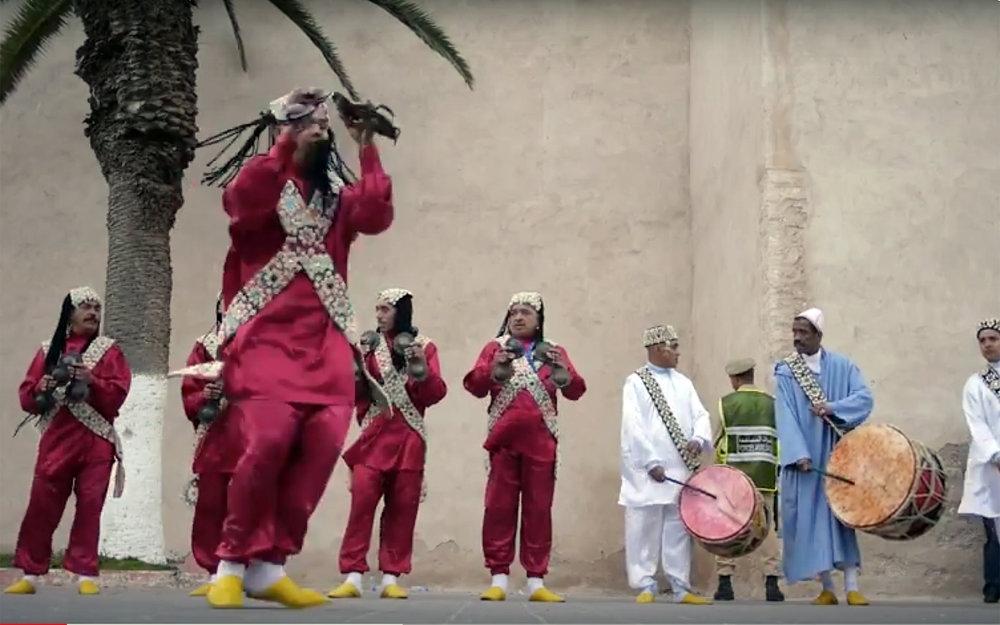 """334.GNAWA / Morocco - GNAWA refers to spiritual music and dance that finds its roots in sub-Saharan Africa, tracing back to the region's history with slavery and currently performed in Morocco and other parts of the Maghreb. This type of music mainly descendants of slaves, gathered in mystical Muslim brotherhoods. Trance plays an important role in this type of music and dance, insofar it refers to religious and mystical phenomena. The music is performed at """"lila"""", entire communal nights of celebration dedicated to prayer and healing guided by the Gnawa """"maalem"""", or master musician, and their group of musicians and dancers."""