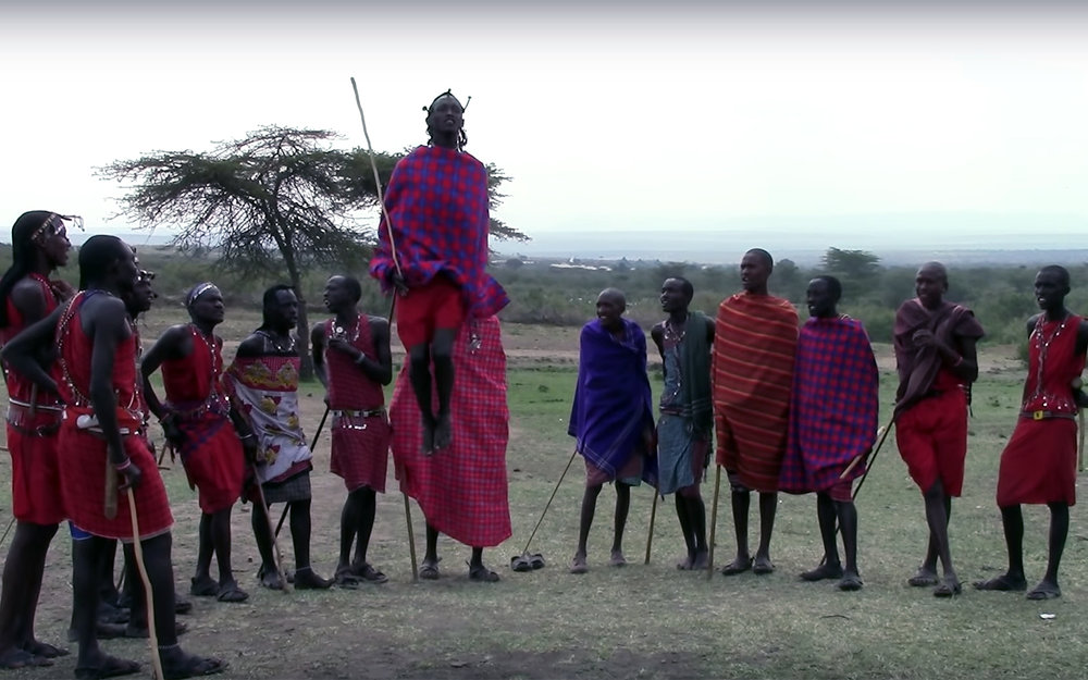 558.Maasai Jumping Dance / Kenya - Maasai Jumping Dance is a special style of dancing performed by the Massai tribe from Kenya, an ethnic community that has managed to withstand the test of time and retained its rich traditions. The Maasai have a distinct dance that involve making a circle and jumping up high to show their strength and stamina as tribal warriors. The women wear bead necklaces or shanga round their necks which they use to dance as they sing their traditional music. The beautiful colours of their shukas and beads combined with their mohawk kind of hairstyles separates them from any other dancers in Kenya.