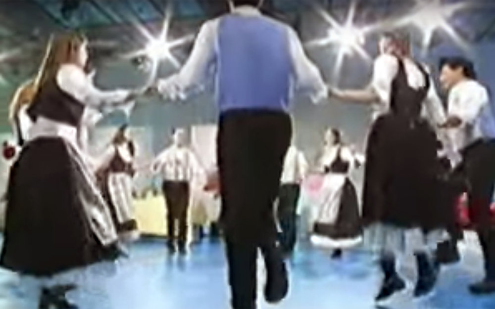 554.MARAICHINE / France - MARAICHINE is a traditional dance from Brittany and it is dances by two lines of people facing each other.