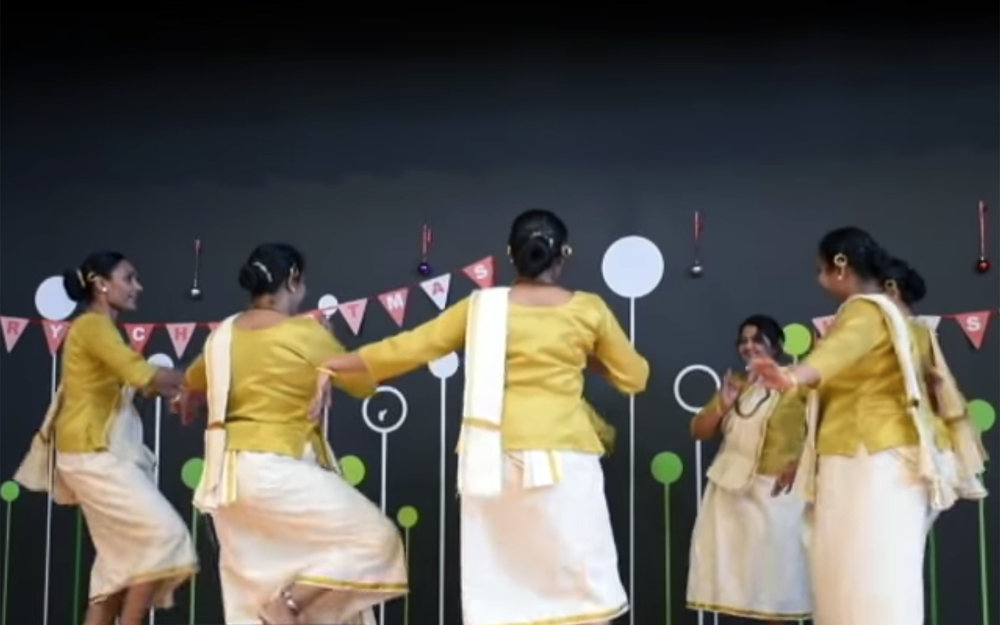 577.Margam kali / India - Margam kali is an Indian group dance from Kerala, practiced by the Saint Thomas Christians who trace their origins to the evangelistic activity of Thomas the Apostle in the 1st century.