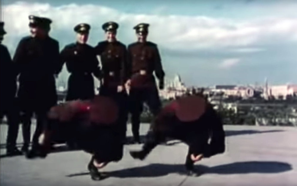 602.MILITARY DANCE / Russia - MILITARY DANCE is a name for dances performed by the military people, also during huge parades in every Russian city, honouring veterans on May9th - a Victory Day in Russia.